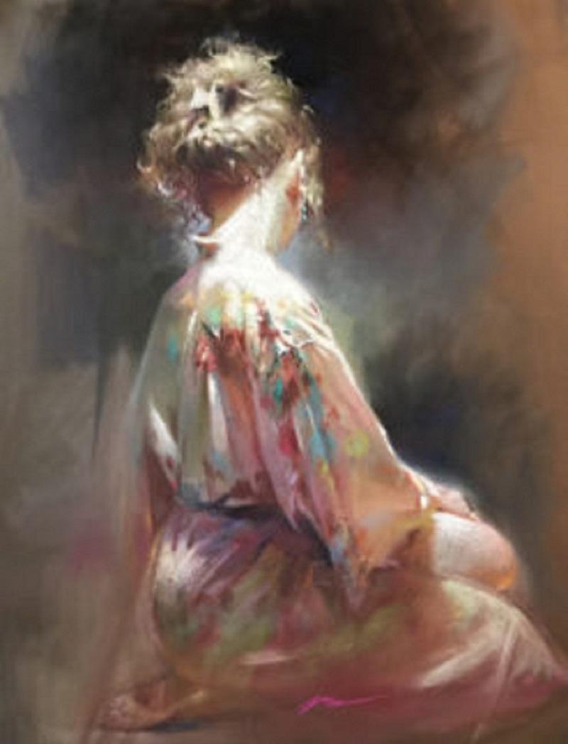 oil painting dancing light by jian wu