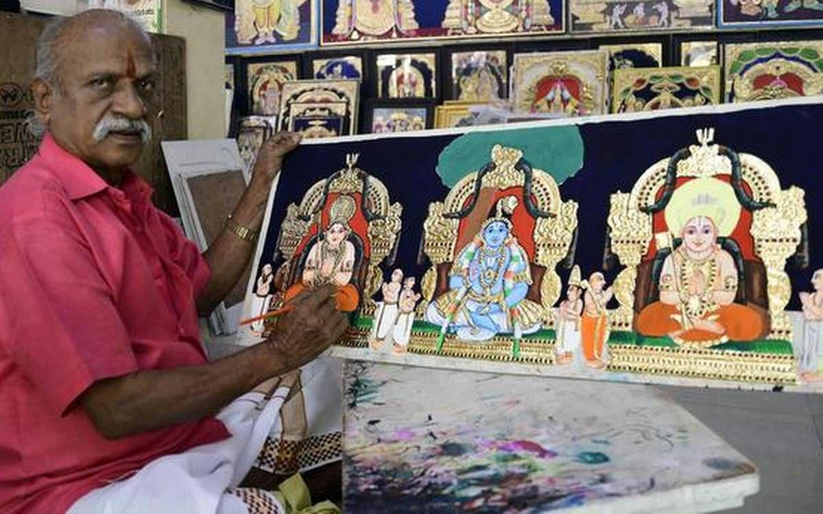 tanjore painting artist ramanujam