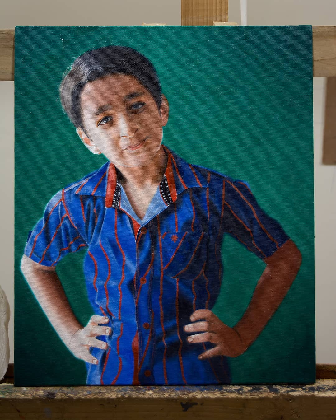 beautiful painting boy by vikas joshi