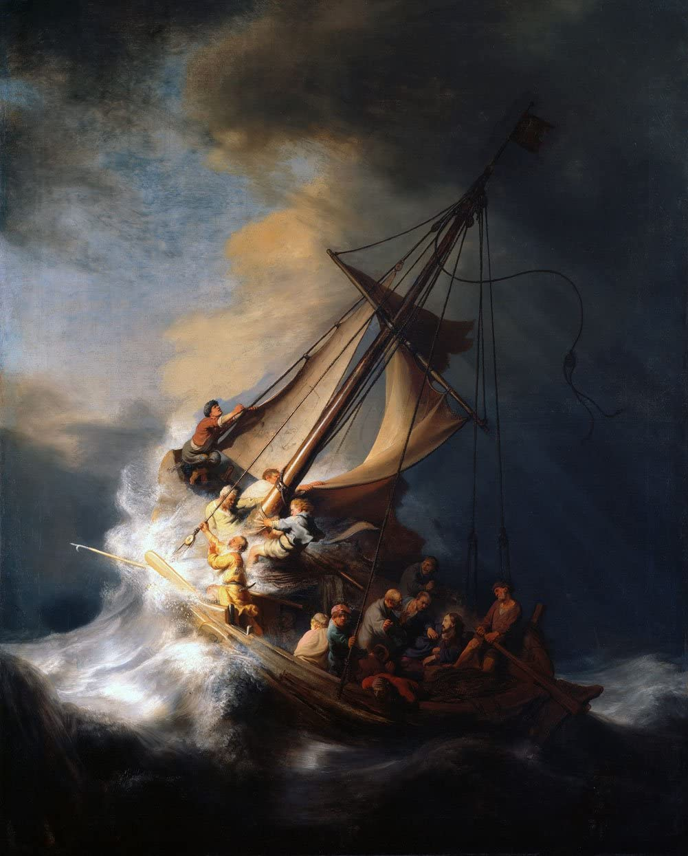 famous painting storm sea galilee by rembrandt