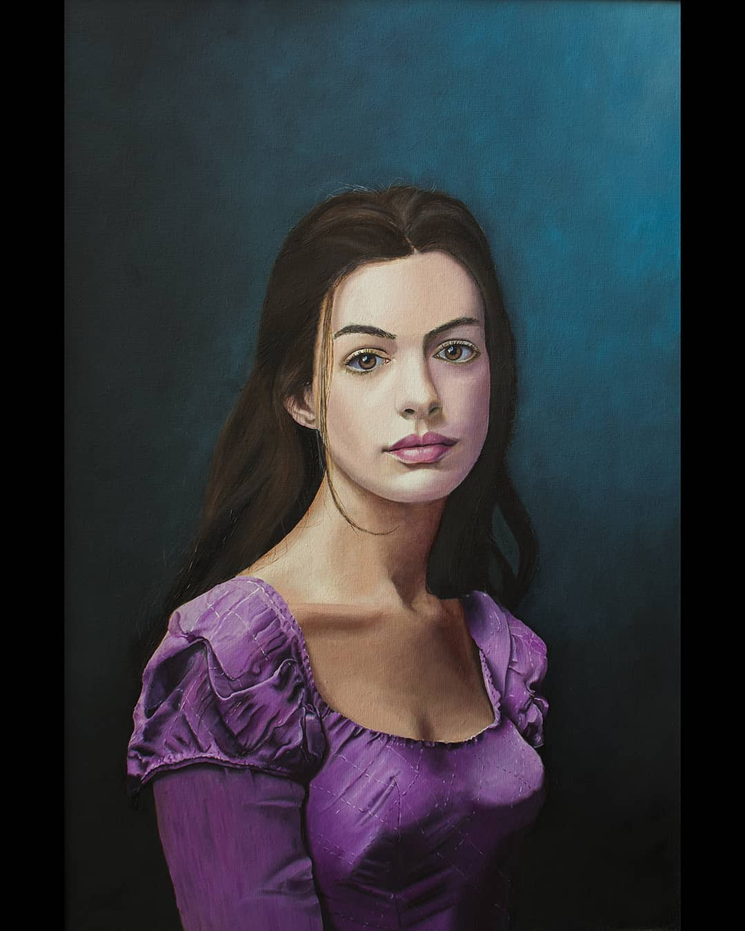 beautiful painting anna hathaway by vikas joshi