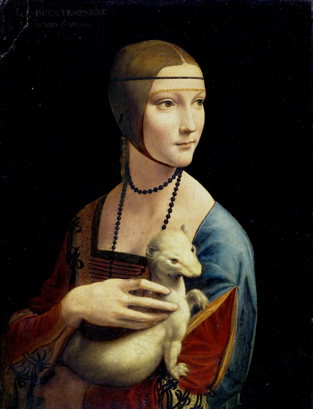 famous painting lady ermine by leonardo da vinci