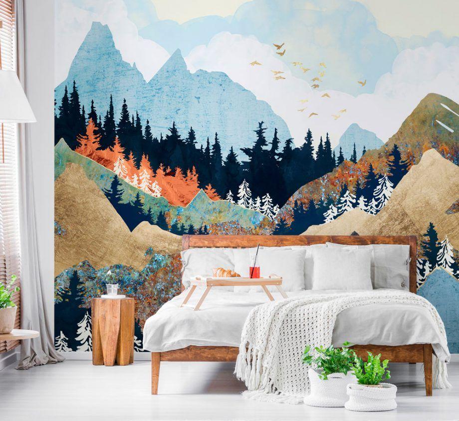 wallpaper design mountains