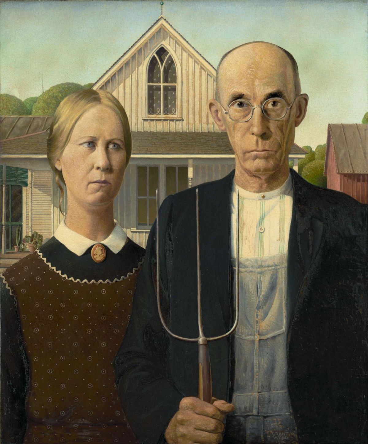 famous painting american gothic by grant wood