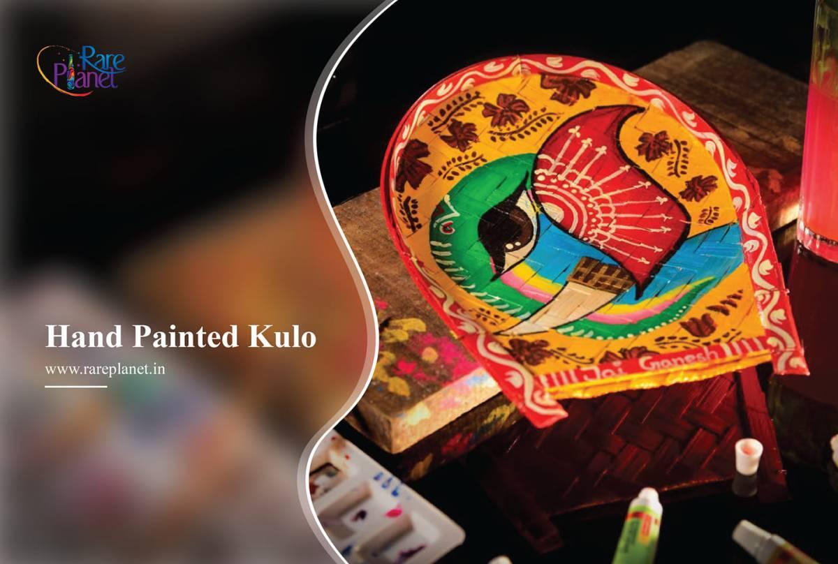 handpainted bamboo tray by rareplanet