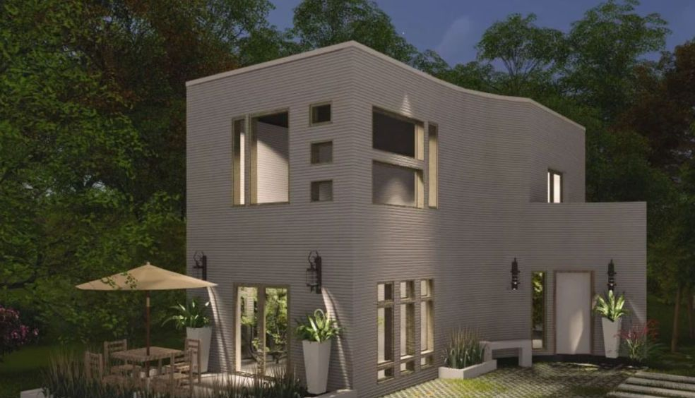 3d printed house by malak bellajdel