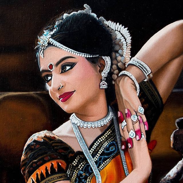 beautiful painting woman by vikas joshi