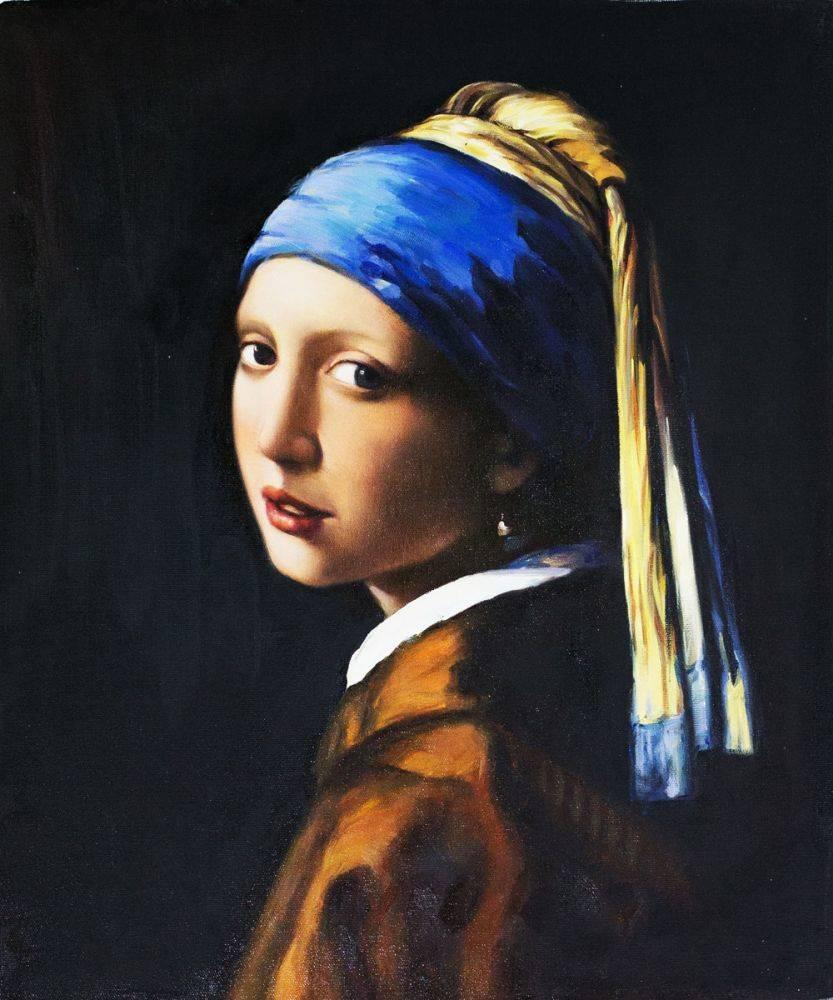 famous painting girl pearl earring by johannes vermeer