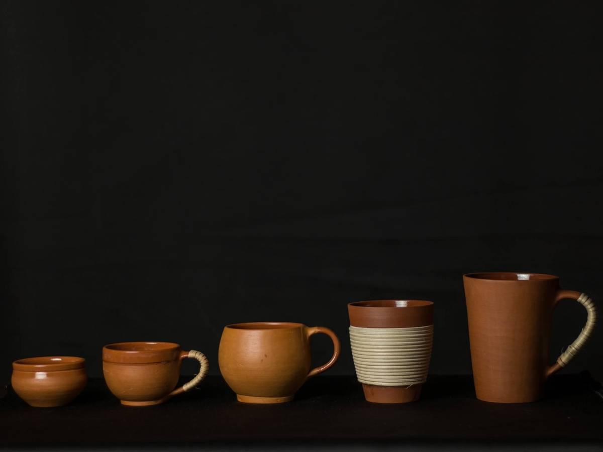 terracotta handicraft coffee mugs by rareplanet