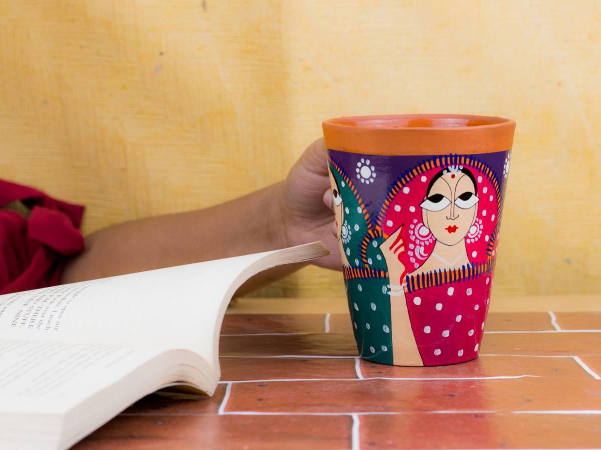 terracotta handicraft coffe mug by rareplanet