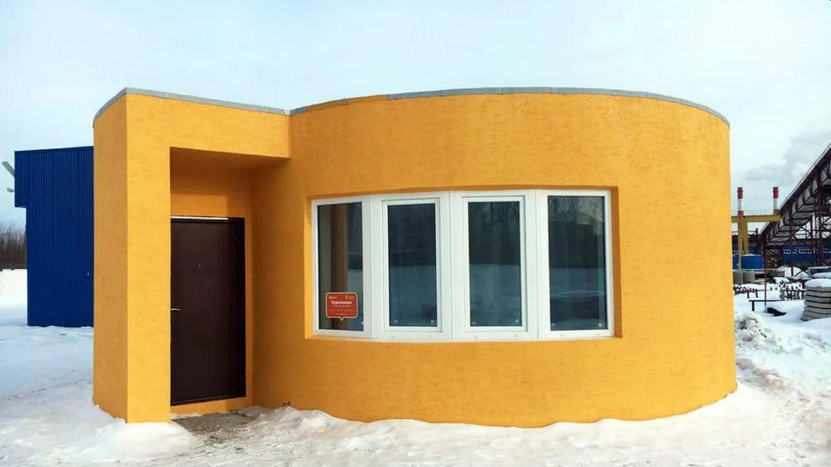 3d printed house by apis cor