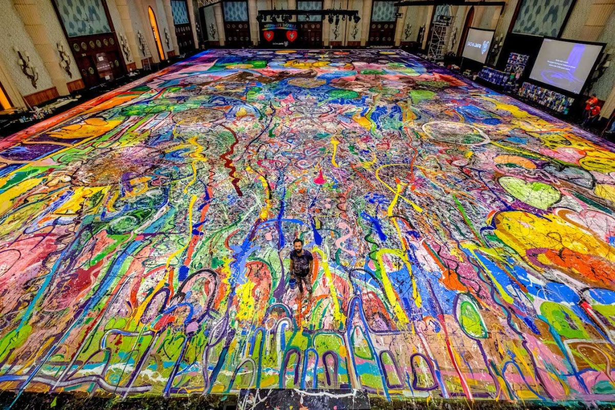 worlds largest canvas painting journey humanity by sacha jafri