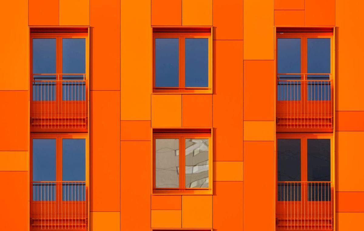 best colourful building photography orange deviation by sander van der werf