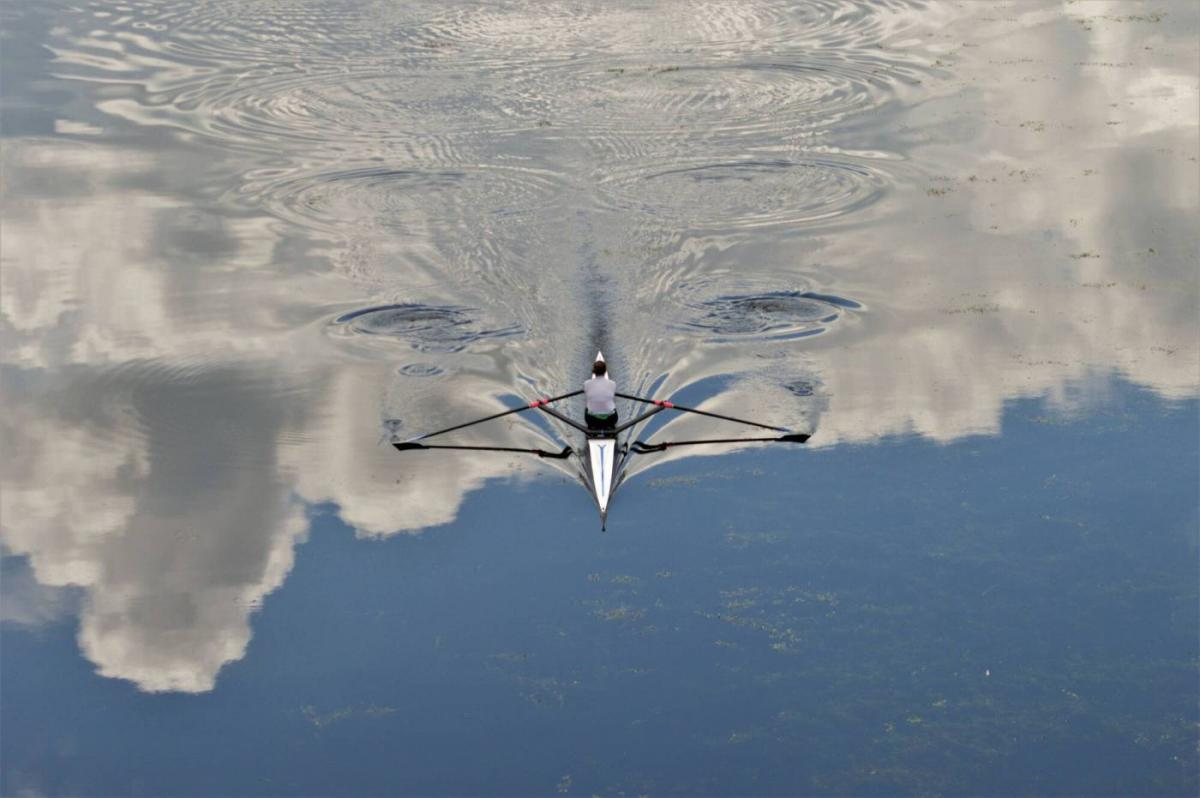 award winning photo boat lake aerial view by nuala corkery