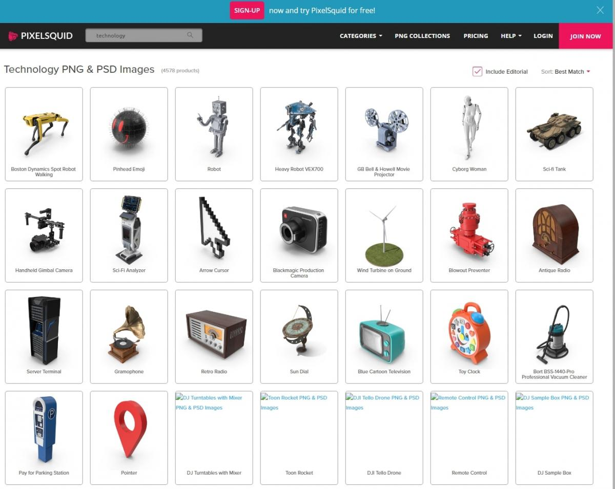 pixelsquid 3d model website