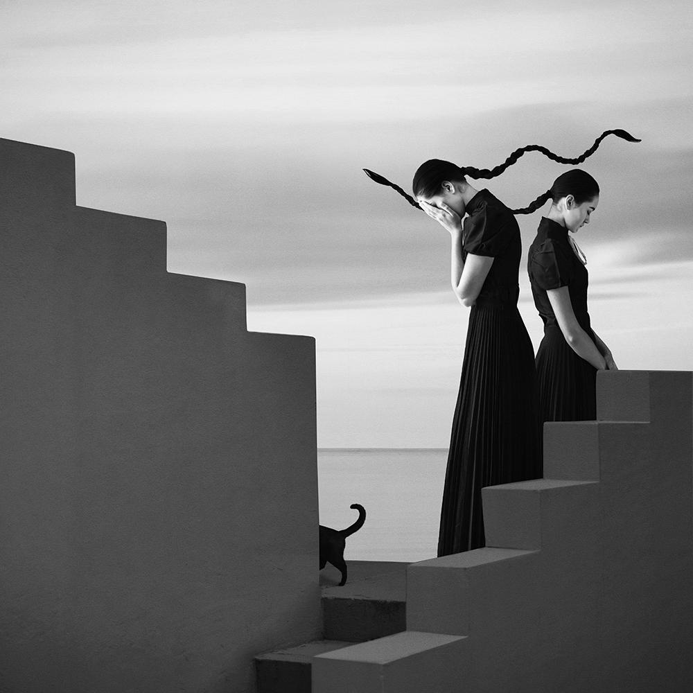 monochrome photography woman