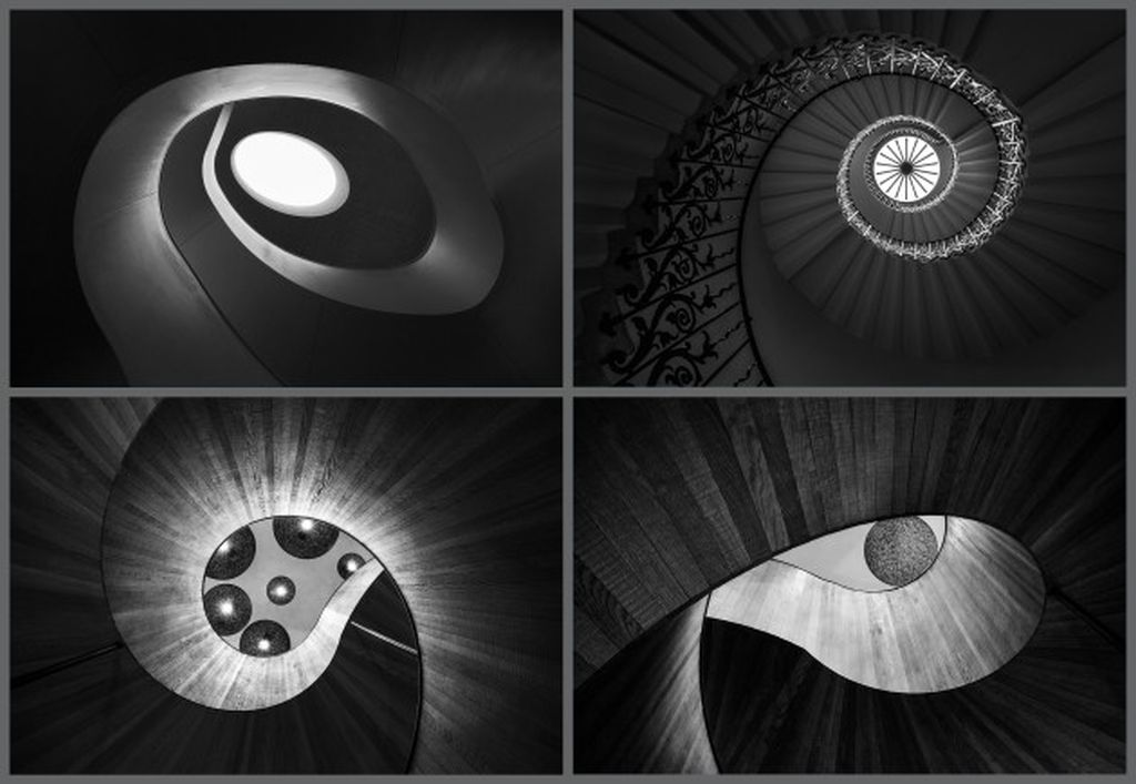 award winning black white spiral staircases picture by jacqueline hammer