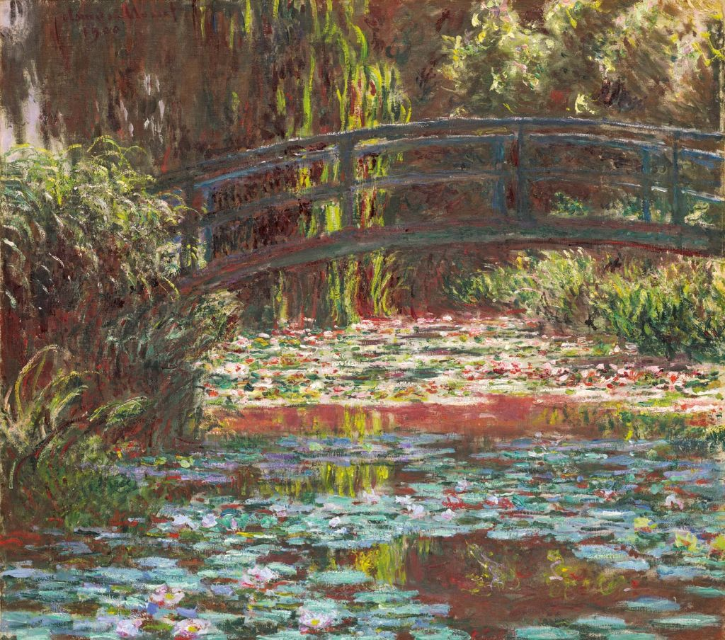 oil painting water lily by claude monet