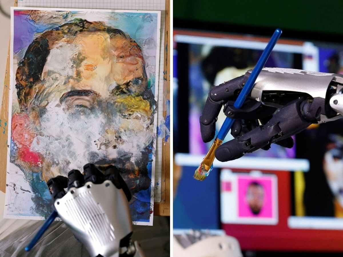 robot sophias nft artwork