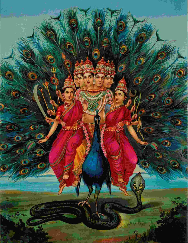 murugan painting by indian artist raja ravi varma