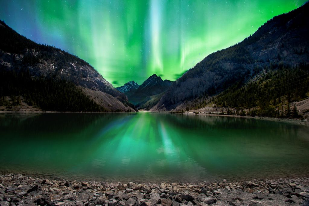 night photography canadian aurora borealis by jacquie matechuk