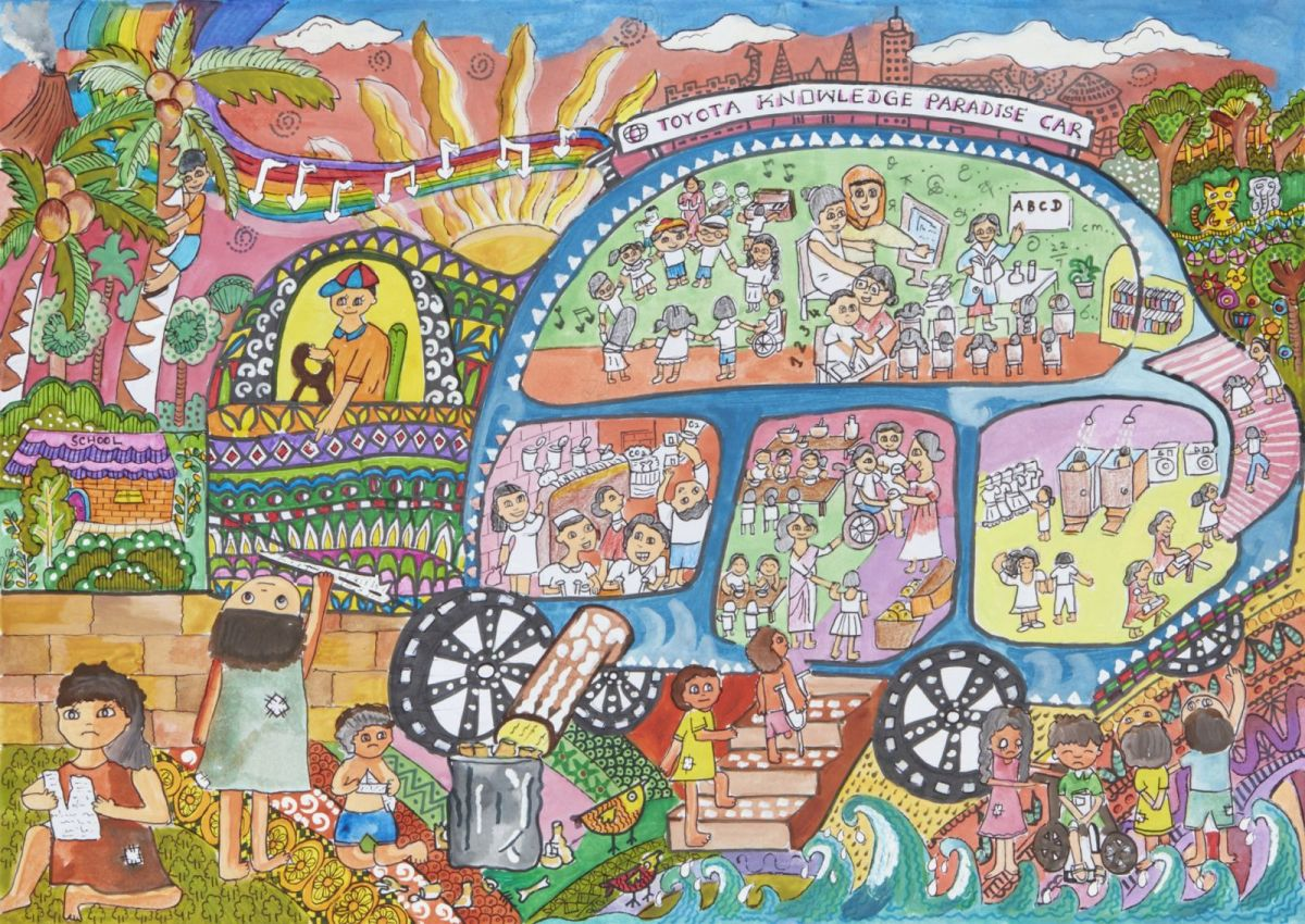 dream car art toyota knowledge paradise car art by ruwindya thushadi