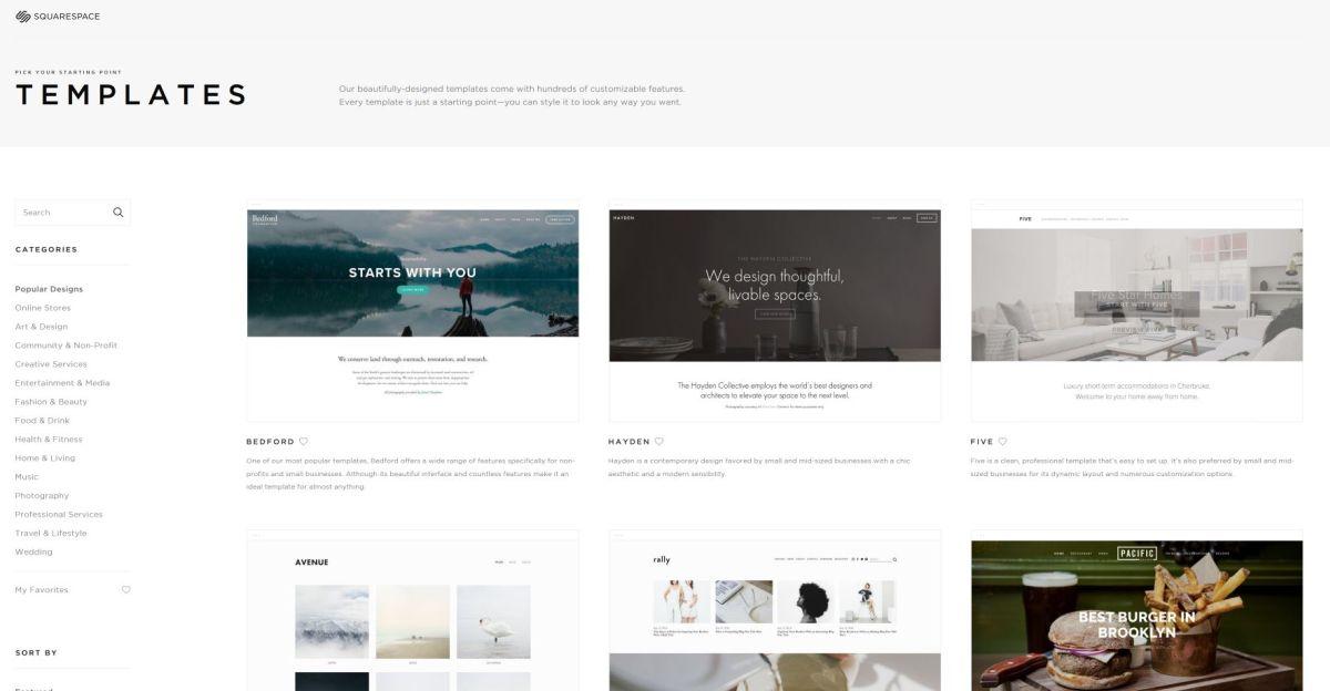 10 best web design tool squarespace