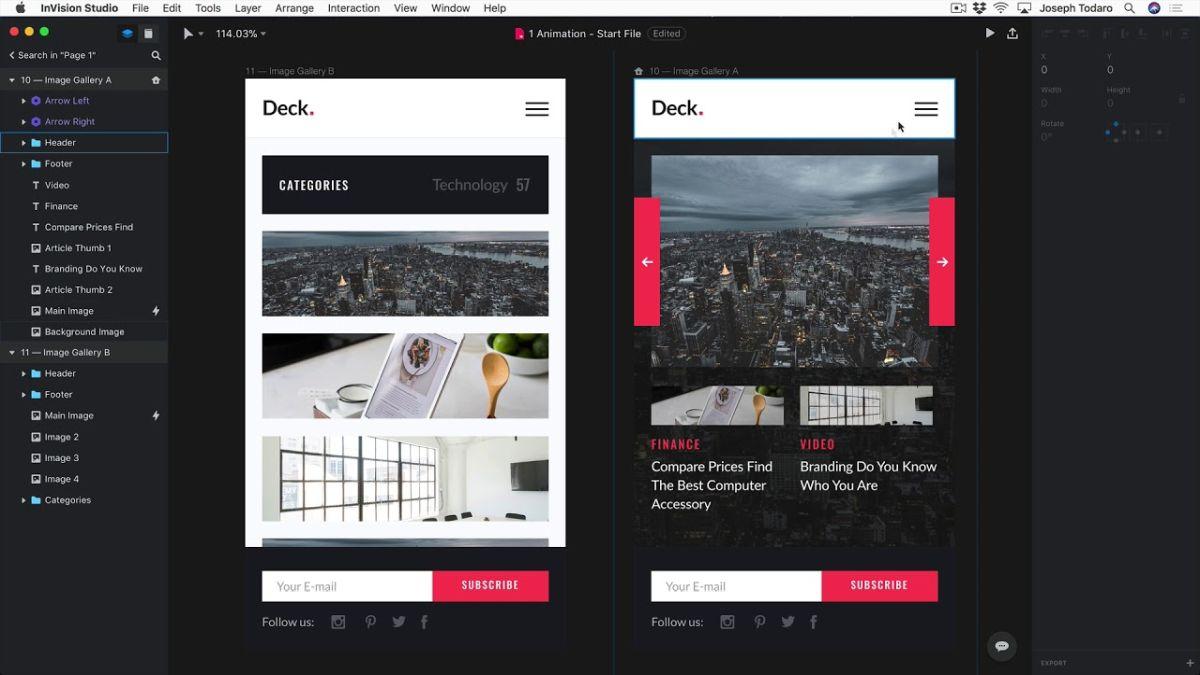 6 best website creation tool invision studio