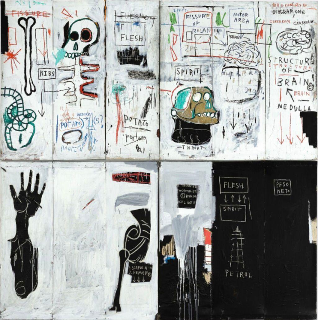 8 jean michel artwork named flesh and spirit